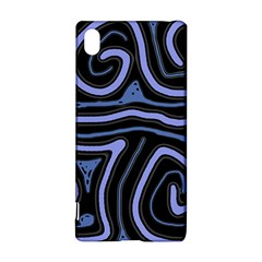 Blue Abstract Design Sony Xperia Z3+ by Valentinaart