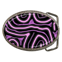 Purple Neon Lines Belt Buckles by Valentinaart