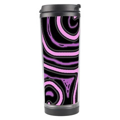 Purple Neon Lines Travel Tumbler by Valentinaart