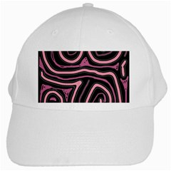 Decorative Lines White Cap by Valentinaart