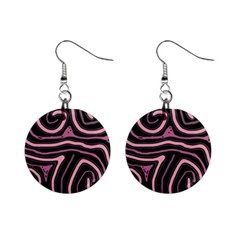 Decorative Lines Mini Button Earrings
