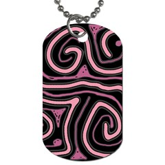 Decorative Lines Dog Tag (one Side)