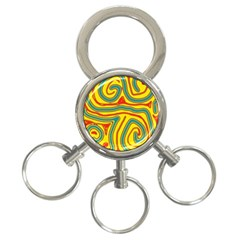 Colorful Decorative Lines 3 Ring Key Chains by Valentinaart