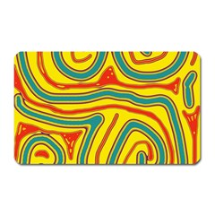 Colorful Decorative Lines Magnet (rectangular) by Valentinaart
