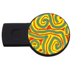 Colorful Decorative Lines Usb Flash Drive Round (4 Gb)