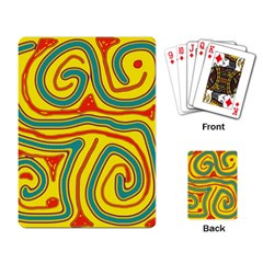 Colorful Decorative Lines Playing Card by Valentinaart
