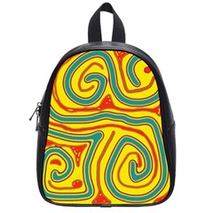 Colorful Decorative Lines School Bags (small)