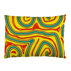 Colorful Decorative Lines Pillow Case (two Sides) by Valentinaart