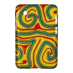 Colorful Decorative Lines Samsung Galaxy Tab 2 (7 ) P3100 Hardshell Case