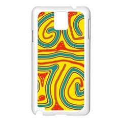 Colorful Decorative Lines Samsung Galaxy Note 3 N9005 Case (white) by Valentinaart