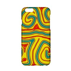 Colorful Decorative Lines Apple Iphone 6/6s Hardshell Case by Valentinaart