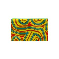 Colorful Decorative Lines Cosmetic Bag (xs) by Valentinaart