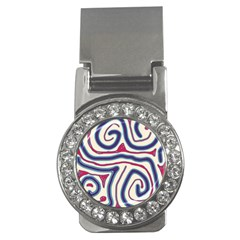 Blue And Red Lines Money Clips (cz)  by Valentinaart