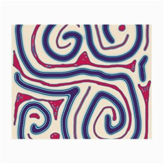 Blue And Red Lines Small Glasses Cloth by Valentinaart