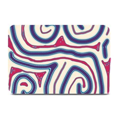 Blue And Red Lines Plate Mats by Valentinaart