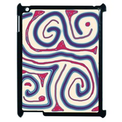 Blue And Red Lines Apple Ipad 2 Case (black) by Valentinaart
