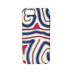 Blue And Red Lines Apple Iphone 5 Classic Hardshell Case (pc+silicone) by Valentinaart