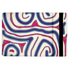 Blue And Red Lines Ipad Air Flip by Valentinaart