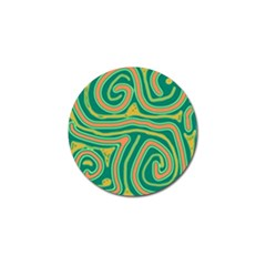 Green And Orange Lines Golf Ball Marker (10 Pack) by Valentinaart