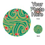 Green and orange lines Playing Cards 54 (Round)  Front - HeartQ