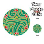 Green and orange lines Playing Cards 54 (Round)  Front - HeartA