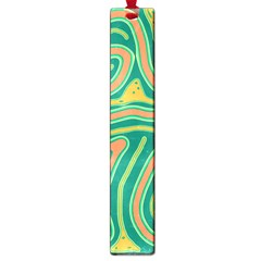 Green And Orange Lines Large Book Marks by Valentinaart
