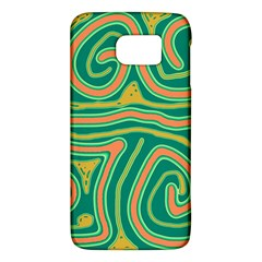 Green And Orange Lines Galaxy S6 by Valentinaart