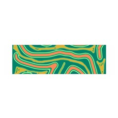 Green And Orange Lines Satin Scarf (oblong) by Valentinaart