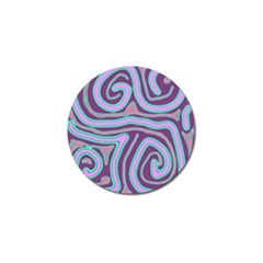 Purple Lines Golf Ball Marker (4 Pack) by Valentinaart
