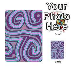 Purple Lines Multi Purpose Cards (rectangle)  by Valentinaart