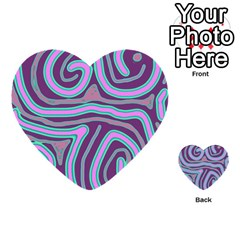 Purple Lines Multi Purpose Cards (heart)