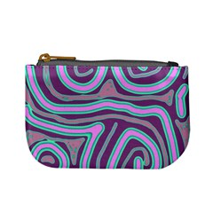 Purple Lines Mini Coin Purses by Valentinaart