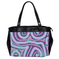 Purple Lines Office Handbags (2 Sides)  by Valentinaart