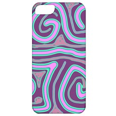 Purple Lines Apple Iphone 5 Classic Hardshell Case by Valentinaart