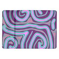 Purple Lines Samsung Galaxy Tab 10 1  P7500 Flip Case by Valentinaart