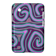 Purple Lines Samsung Galaxy Tab 2 (7 ) P3100 Hardshell Case  by Valentinaart