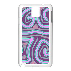 Purple Lines Samsung Galaxy Note 3 N9005 Case (white) by Valentinaart