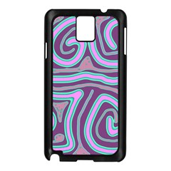 Purple Lines Samsung Galaxy Note 3 N9005 Case (black) by Valentinaart