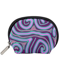 Purple Lines Accessory Pouches (small)  by Valentinaart