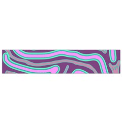 Purple Lines Flano Scarf (small) by Valentinaart