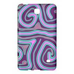 Purple Lines Samsung Galaxy Tab 4 (7 ) Hardshell Case  by Valentinaart