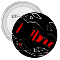 Black And Red Artistic Abstraction 3  Buttons by Valentinaart