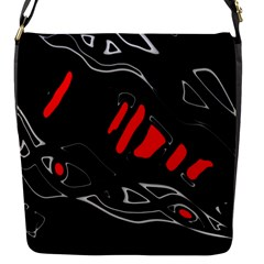 Black And Red Artistic Abstraction Flap Messenger Bag (s) by Valentinaart