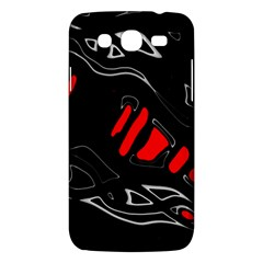 Black And Red Artistic Abstraction Samsung Galaxy Mega 5 8 I9152 Hardshell Case  by Valentinaart