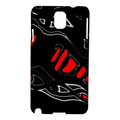 Black And Red Artistic Abstraction Samsung Galaxy Note 3 N9005 Hardshell Case by Valentinaart