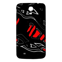 Black And Red Artistic Abstraction Samsung Galaxy Mega I9200 Hardshell Back Case