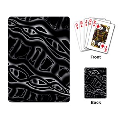 Black And White Decorative Design Playing Card by Valentinaart