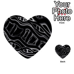 Black And White Decorative Design Multi-purpose Cards (heart)  by Valentinaart
