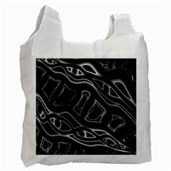 Black And White Decorative Design Recycle Bag (two Side)  by Valentinaart