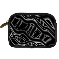 Black And White Decorative Design Digital Camera Cases by Valentinaart